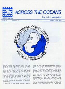 Across the oceans : the International Ocean Institute newsletter : [issues from volume 1 and volume 2]