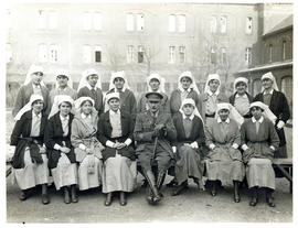 Photograph of Captain Donovan and nursing staff