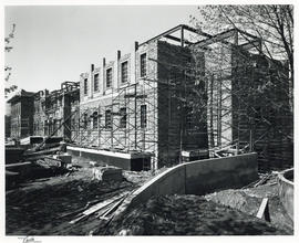 Photograph of the construction of the Sir James Dunn Science building
