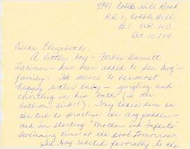 Correspondence between Elisabeth Mann Borgese and Judy and Tony Latimer
