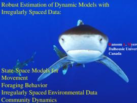 Robust estimation of dynamic models with irregularly spaced data: state-space models for movement...