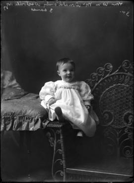 Photograph of the baby of Mrs. William McDonald