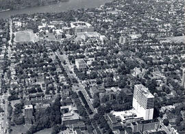 Photograph of an aerial view of Dalhousie Universities Studley campus