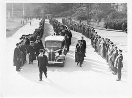 Photograph of Arthur Stanley MacKenzie's funeral procession