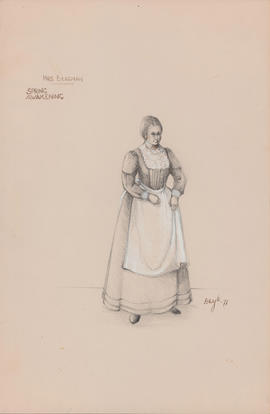 Costume design for Mrs. Bergman