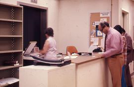 Photograph of the W.K. Kellogg Health Science Library second floor photocopy service station