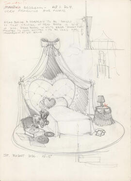 Sketch of Sandy's bedroom : Act I, scene IV