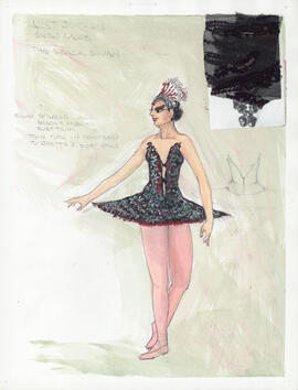 Costume design for the Black Swan