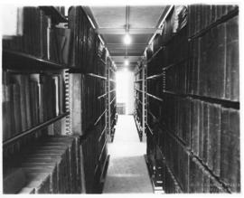 Photograph of the stacks in the Macdonald library