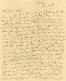 Letter addressed to  Gertrude Morash dated December 18, 1918