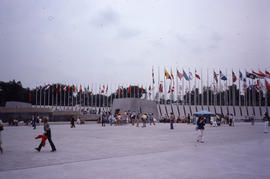 Photograph of the plaza outside the stadium
