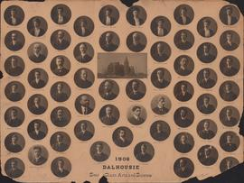 Photographic collage of the Dalhousie Senior Class of Arts and Science of 1906