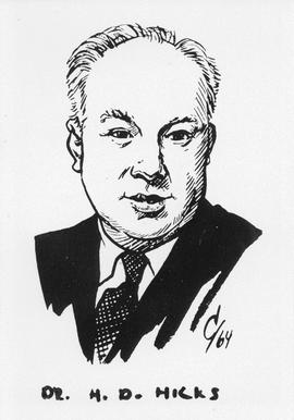 Drawing of Dr. H. D. Hicks