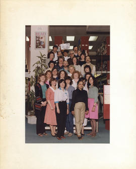 Photograph of the W.K. Kellogg Library Staff 1984