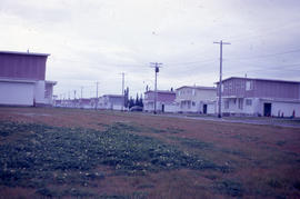Photograph of a row of United States Air Force houses in Goose Bay, Newfoundland and Labrador