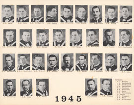 Composite photograph of the Faculty of Medicine - Class of 1945
