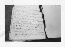 Photograph of a manuscript in the Dalhousie University Archives