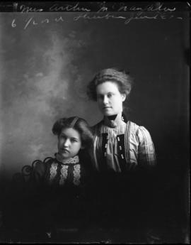 Photograph of Mrs. Arthur McNaughton & friend