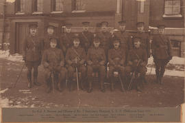 Photograph of Lieutenant John Stewart and officers of the No. 7 Stationary Hospital (Dalhousie Unit)