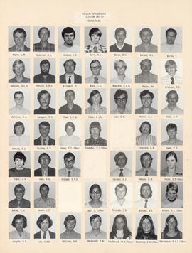 Composite photograph of the Faculty of Medicine - Third Year Class, 1972-1973 (Adams to MacKenzie)