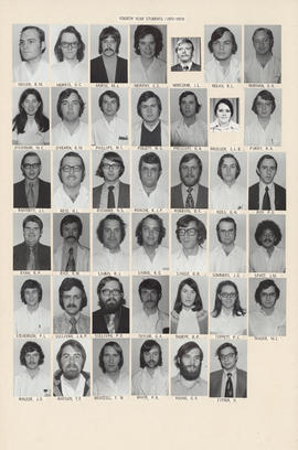 Composite photograph of the Faculty of Medicine - Fourth Year Class, 1972-1973 (Miller to Zitner)