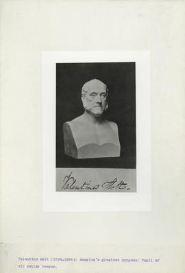 Photograph of Valentine Mott bust (1785-1858)