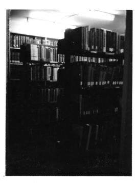 Photograph of the second floor book stacks in the Medical-Dental Library - 5963 College Street