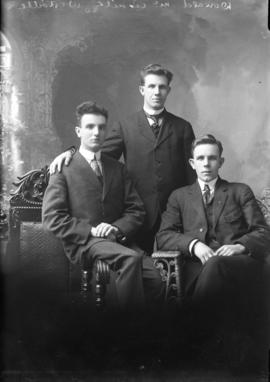 Photograph of Donald McAskill and friends
