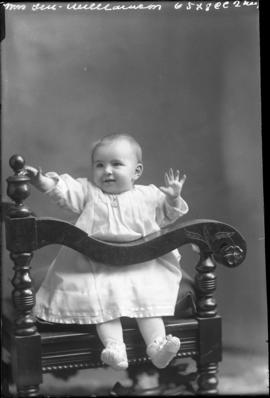 Photograph of the baby of Mrs. Len Williamson