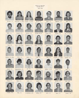 Composite photograph of the Faculty of Medicine - First Year Class, 1972-1973 (Amirault to Lorimer)