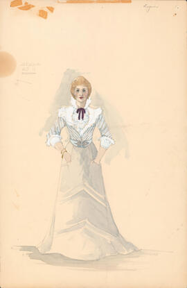 Costume design for Arkadina : Act II