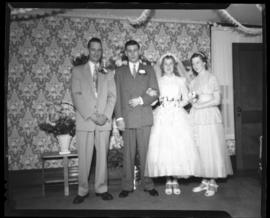Photograph of Marilyn MacPherson's wedding party