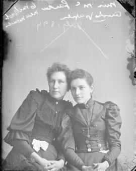Photograph of Miss McLaren and friend