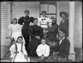 Photograph of Grey, A. B. or John McQueen and family