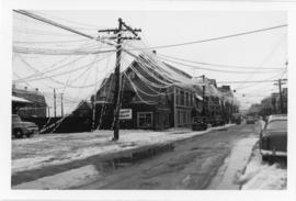 Photograph of Water street after an ice storm in Summerside Prince Edward Island
