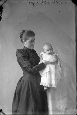 Photograph of Mrs. P. A. McGregor and baby