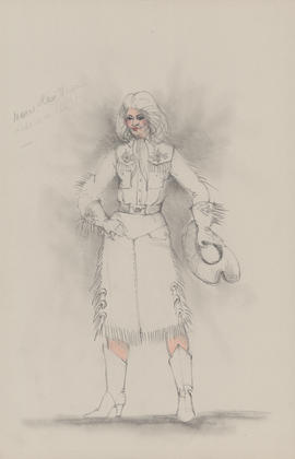 Costume design for one woman (cowgirl?)