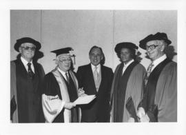 Photograph of 1979 honorary degree recipients