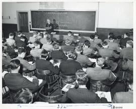 Photograph of students attending a lecture