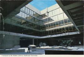 Postcard of the Courtyard of the Killam Memorial Library, Dalhousie University