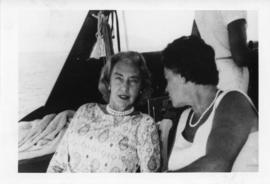 Photograph of Dorothy Johnston Killam with an unidentified woman