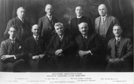 Photograph of Officers and Executive of the Halifax Curling Club, 1929-1930