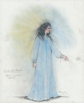 Costume design for Beth in a vision : Act II
