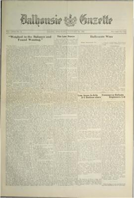 Dalhousie Gazette, Volume 58, Issue 12
