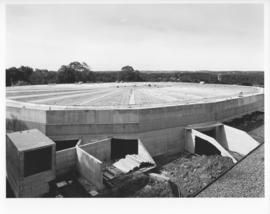 Photograph of the roof of Dalplex during construction