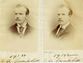 Portraits of D.A. Campbell from the Medical Society of Nova Scotia