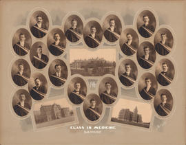 Photographic collage of the Dalhousie Univeristy Faculty of Medicine class of 1902