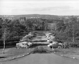 Photograph of parking lot at Studley Campus, Dalhousie University