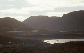 Photograph of mountains near Cape Dorset, Northwest Territories
