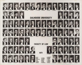 Composite photograph of Faculty of Law class of 1971